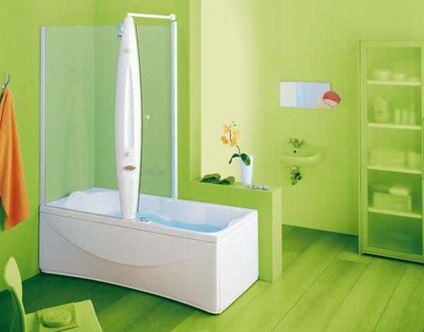 Vasca doccia combinata ethera system jacuzzi - Vasca da bagno combinata ...