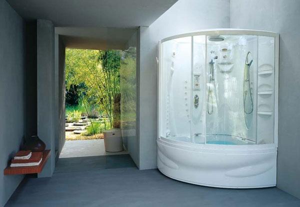 Vasca doccia combinata flexa twin jacuzzi - Vasca da bagno combinata ...