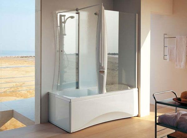 Vasca doccia combinata harpa twin jacuzzi - Vasche da bagno combinate prezzi ...