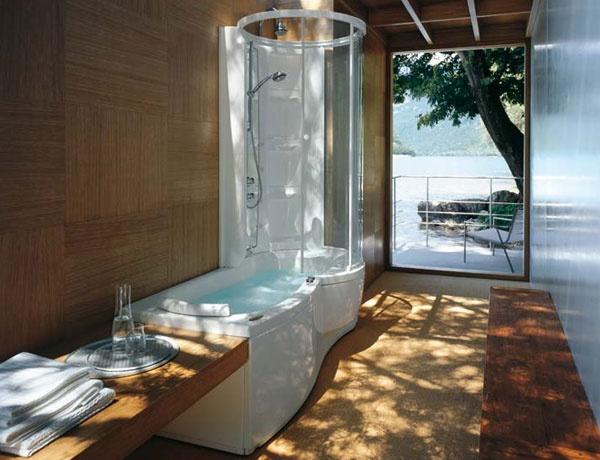 Vasca doccia combinata j twin premium jacuzzi - Vasca da bagno combinata ...