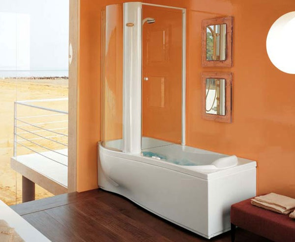 Vasca doccia combinata twin tower corner jacuzzi