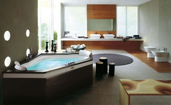 Vasca idromassaggio con finiture in legno Aura Corner 160 | Jacuzzi