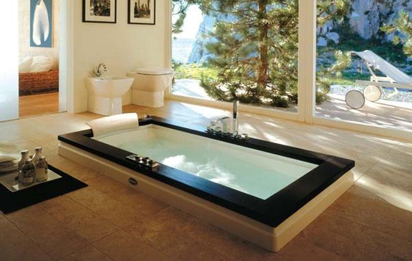 Vasca idromassaggio ad incasso aura uno jacuzzi - Vasche da bagno ad incasso ...