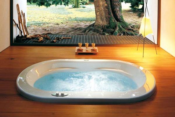 Vasca idromassaggio ad incasso per due persone opalia - Vasche da bagno esterne ...