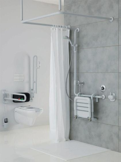 Zona doccia per disabili e anziani ponte giulio s p a for Arredo bagno per disabili